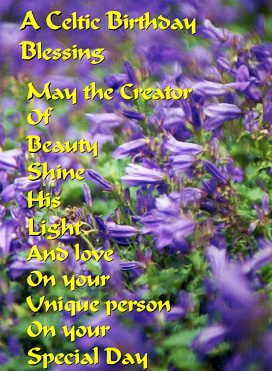 Celtic Blessing Card by Gabrielle Kirby